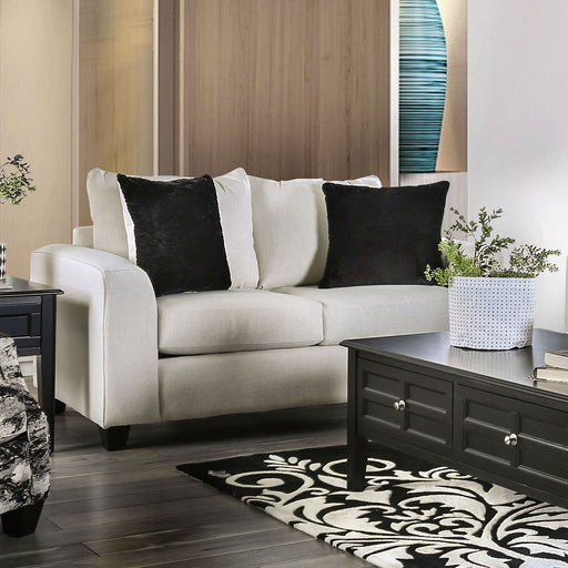 Barnett Ivory Love Seat - Canales Furniture