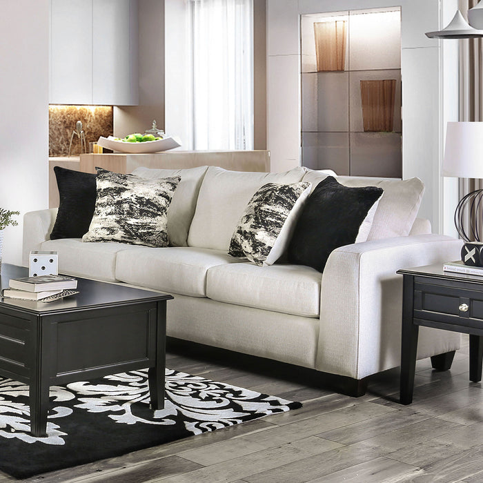 Barnett Ivory Sofa - Canales Furniture