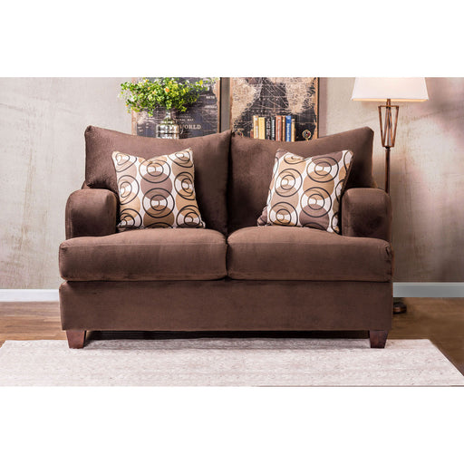 WESSINGTON Chocolate Love Seat - Canales Furniture