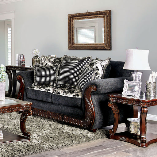 Whitland Gray Love Seat - Canales Furniture