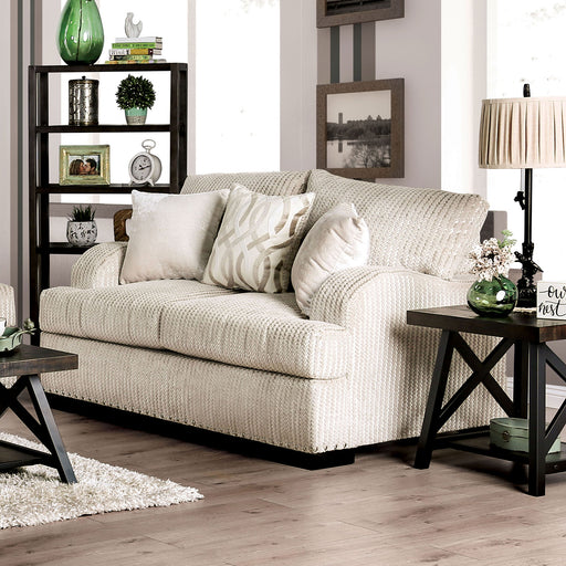 Zayla Golden Ivory Love Seat - Canales Furniture