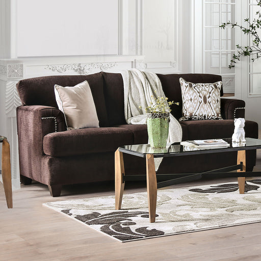 Brynlee Chocolate Sofa + 4 Pillows - Canales Furniture