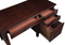 Daryll 4-Drawer Office Desk With Outlet Red Brown