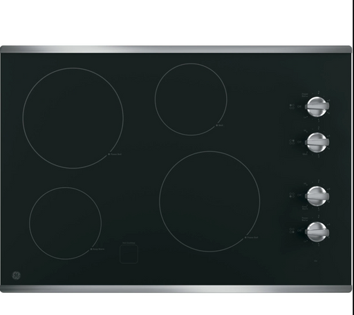 "GE® 30"" Built-In Knob Control Electric Cooktop - Canales Furniture"