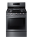 5.8 cu. ft. Freestanding Gas Range with Convection in Black Stainless Steel - Canales Furniture
