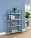 4-Shelf Bookcase (Grey Driftwood) - Canales Furniture