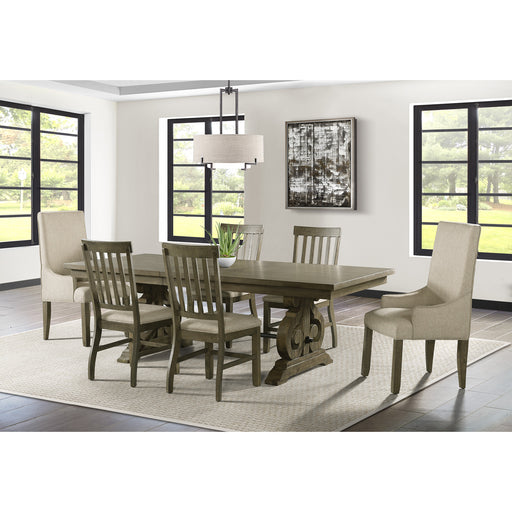 Stone Gray Dining Room Set - Canales Furniture