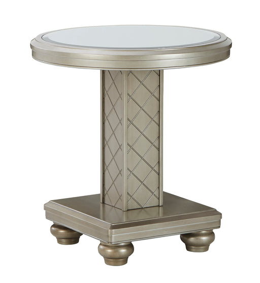 Chevanna Round End Table - Canales Furniture