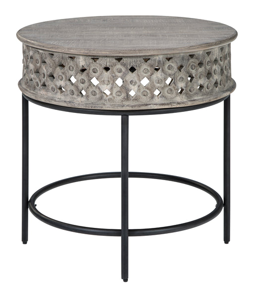 Rastella Round End Table - Canales Furniture