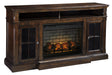 Roddinton XL TV Stand with Fireplace Option - Canales Furniture