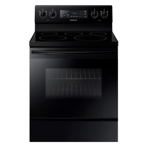 5.9 cu. ft. Freestanding Electric Range with Convection in Black Stainless Steel - Canales Furniture