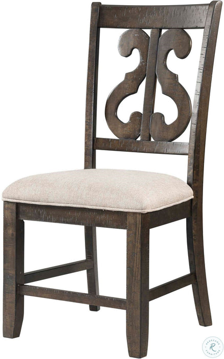 Stone Swirl Back Side Chair - Canales Furniture