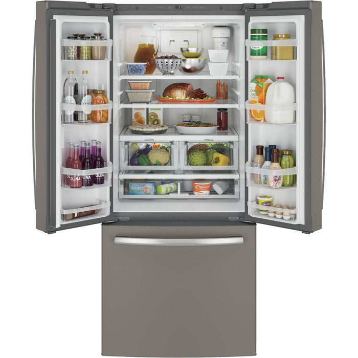 GE® ENERGY STAR® 20.8 Cu. Ft. French-Door Refrigerator - Canales Furniture