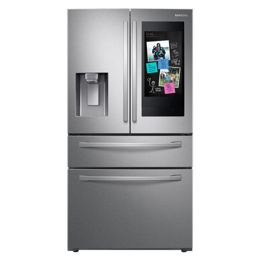 "28 cu. ft. 4-Door French Door Refrigerator with 21.5"" Touch Screen Family Hub™ - Canales Furniture"