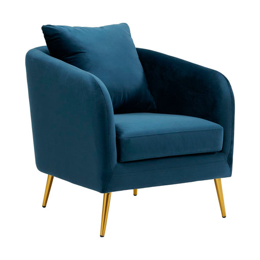 Joss Chair w/Metal Gold Legs Broadway Navy - Canales Furniture