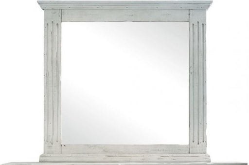Olivia White Mirror - Canales Furniture