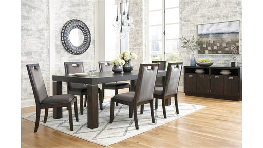 Hyndell Signature Design 7-Piece Dining Room Set - Canales Furniture