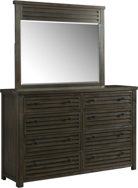 Shelter Dresser and Mirror - Canales Furniture