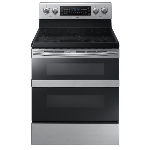 5.9 cu. ft. Freestanding Electric Range with Flex Duo™ & Dual Door in Stainless Steel - Canales Furniture