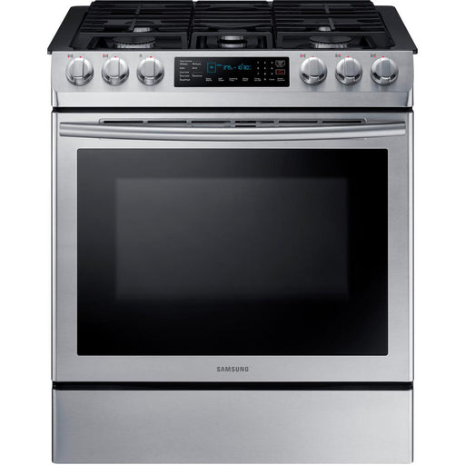 5.8 cu. ft. Slide-in Gas Range with Convection in Stainless Steel - Canales Furniture