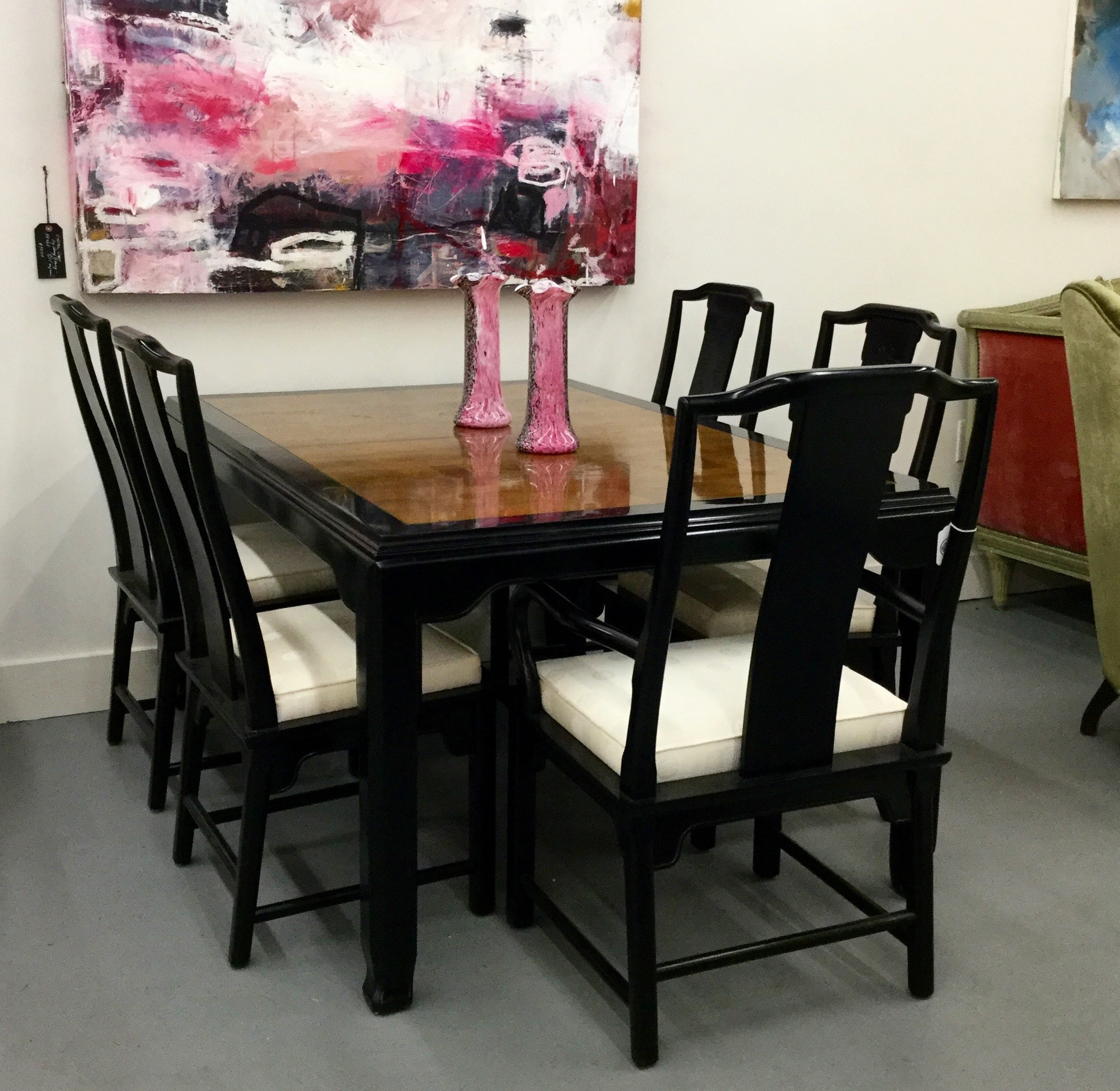 Mid Century Asian Style Dining Set Park Eighth