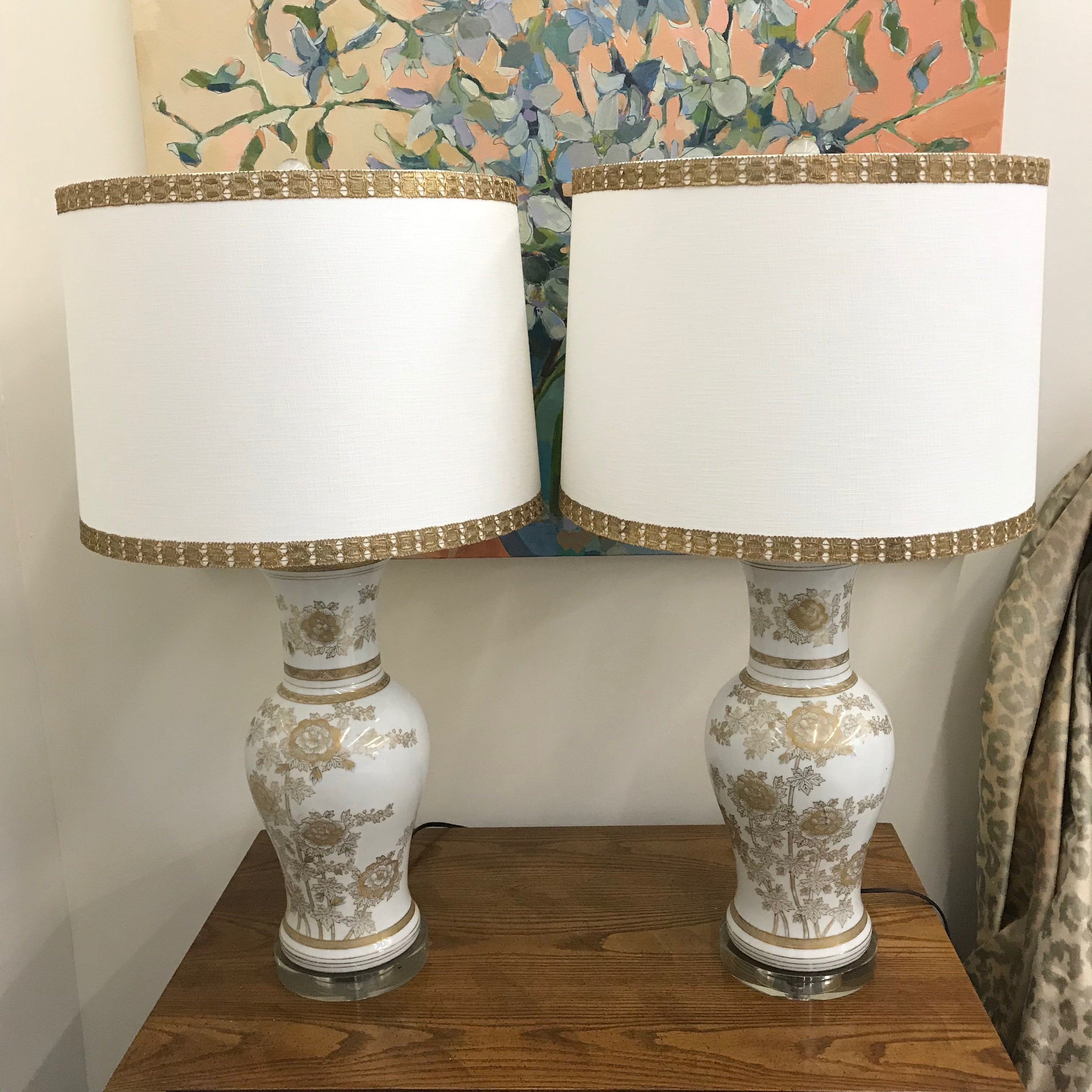 Vintage Hand Painted Lamps
