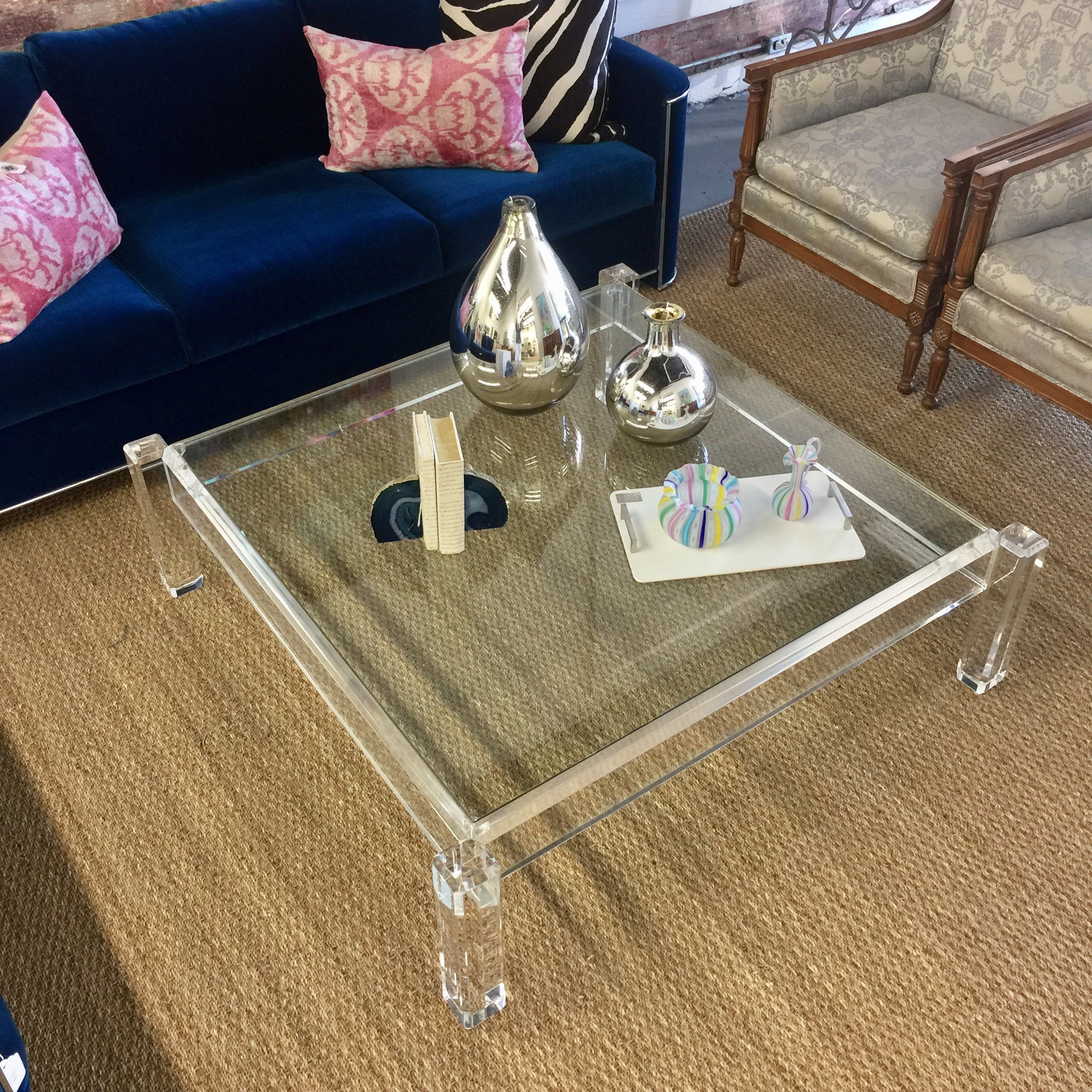 Vintage Lucite Glass Coffee Table Park Eighth