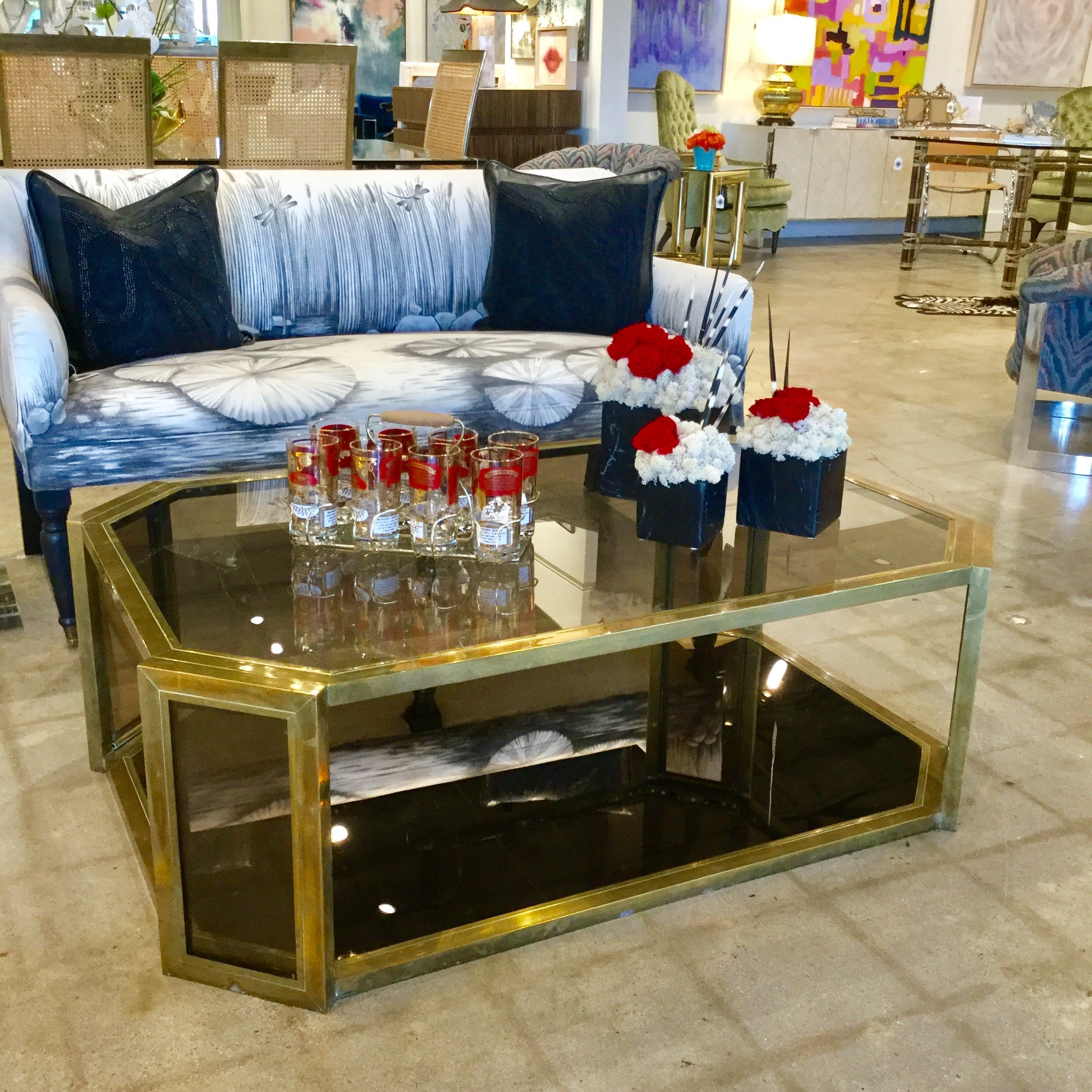 Picture of: Mid Century Brass Coffee Table Park Eighth