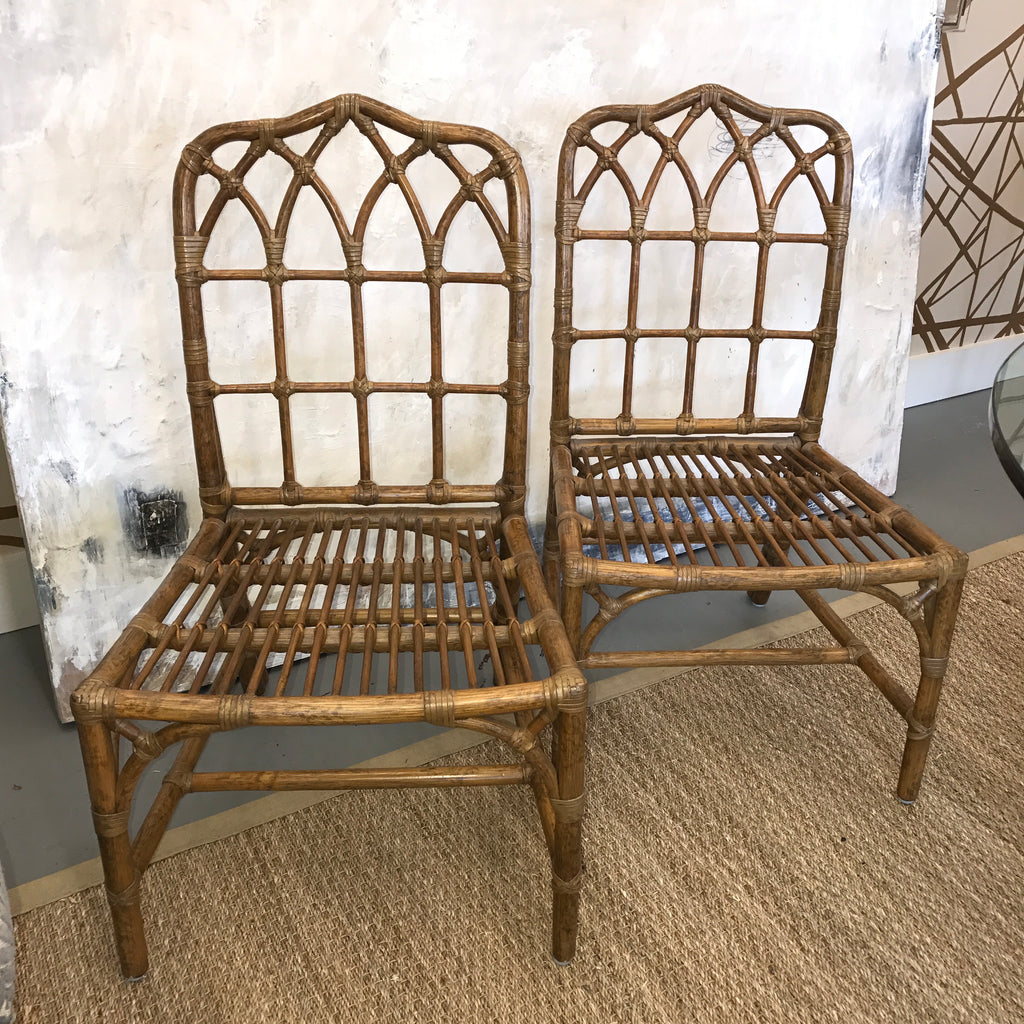 ... Set Of (8) Vintage McGuire Bamboo Chairs ...