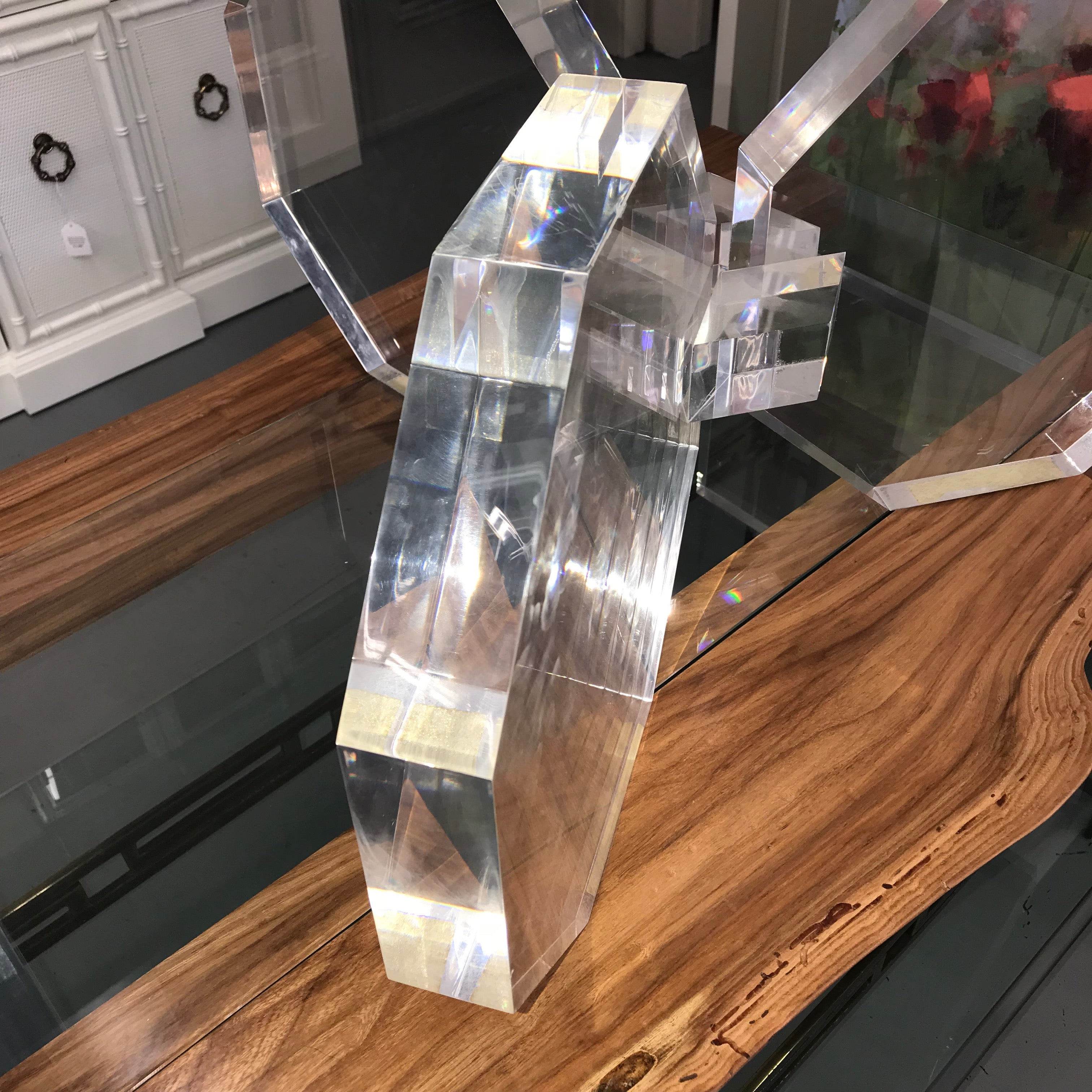 Lucite Table Base