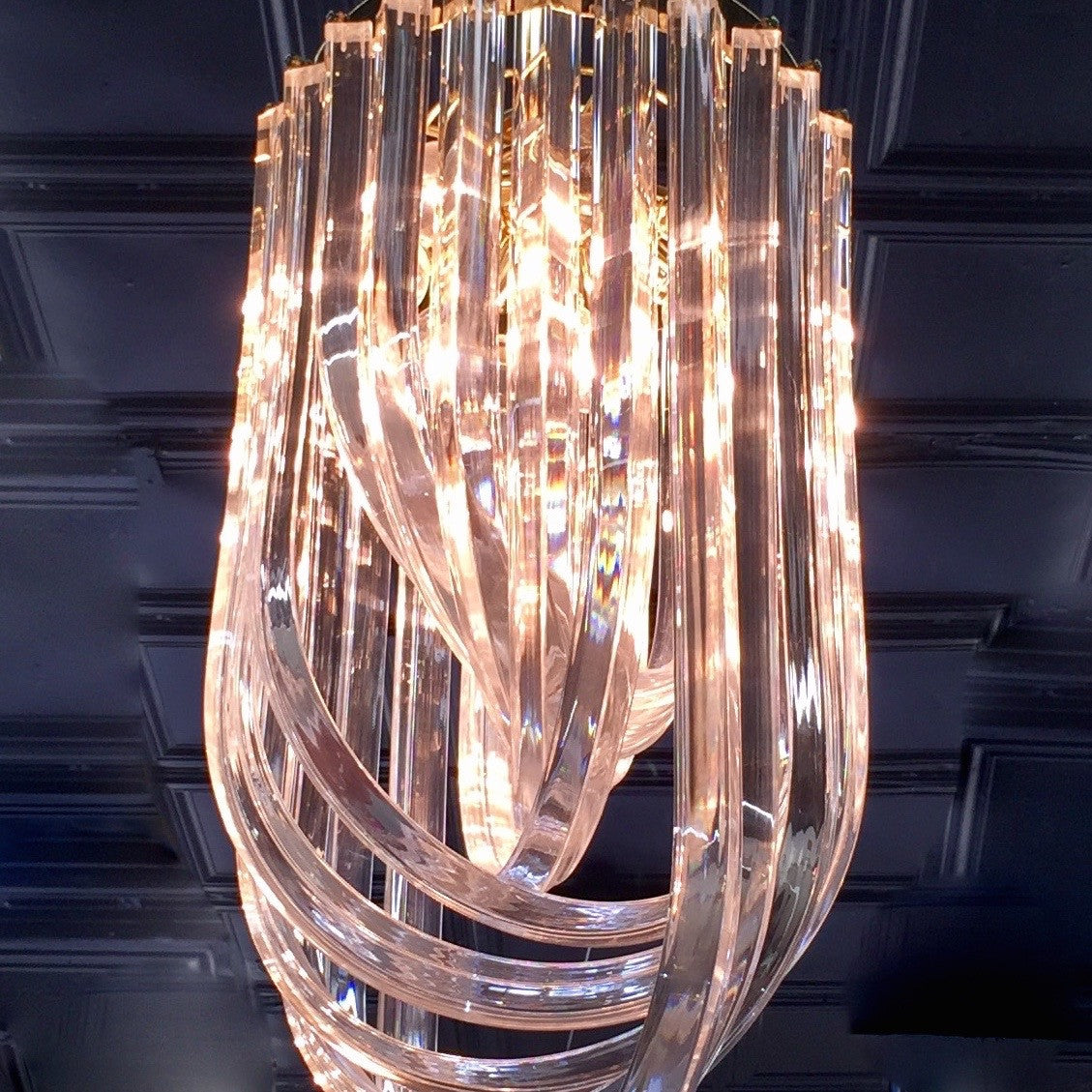 for ribbon lighting pendant chandelier glass x id furniture lights large chandeliers sale modernist f at murano