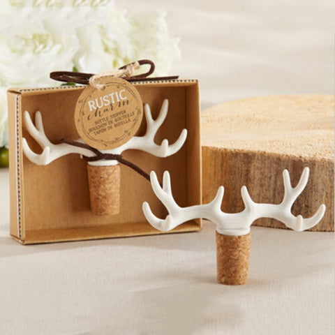 Rustic Deer Antler Wine Bottle Cork