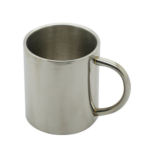 Simple Double Walled Stainless Steel Coffee Mug