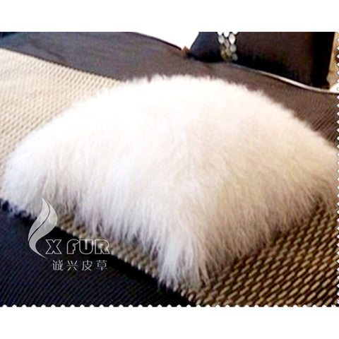 Viking Style Lamb Fur Pillow Cushion Cover 40x40cm