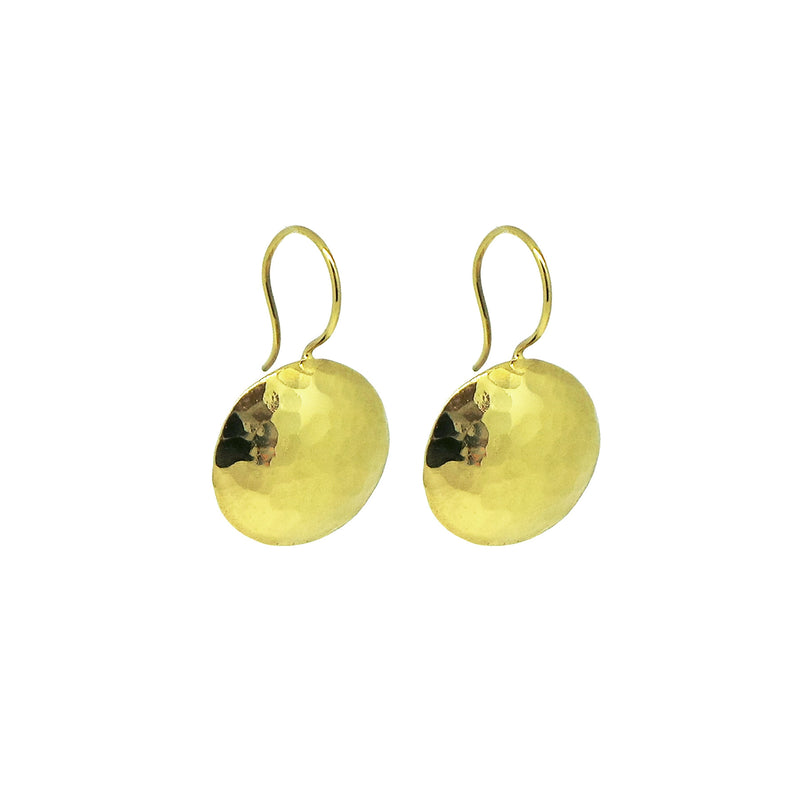 Gold Drop Earrings With Freshwater Pearls