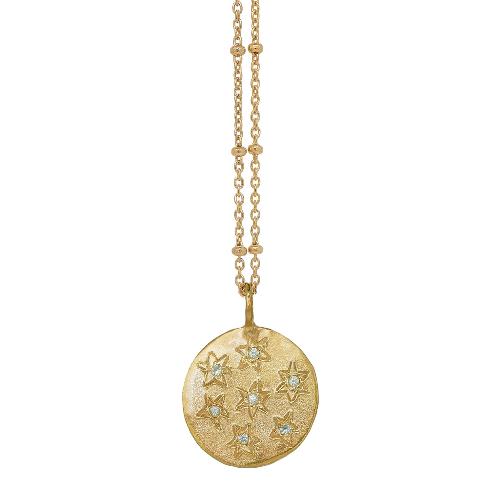 Multi Star Disc Necklace - Gold