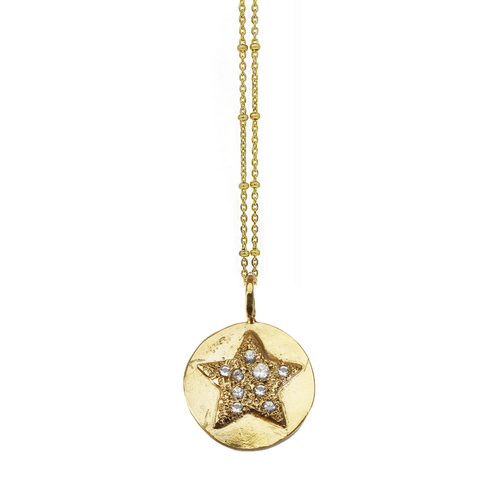 Scatter Star Necklace - Gold