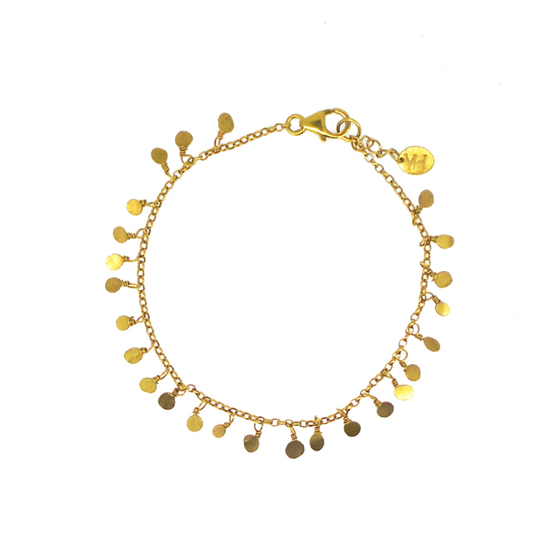 Tiny Sequin Bracelet - Gold