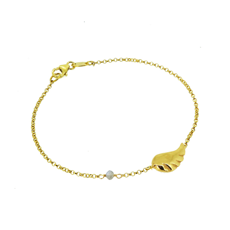Constellation Disc Bracelet with White Sapphires - Gold