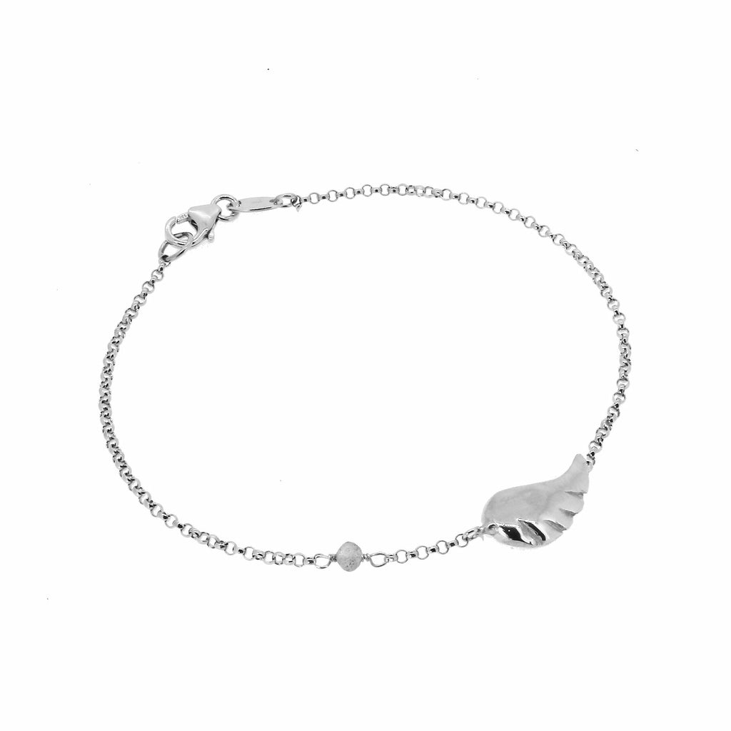 Angel Wing Bracelet with Labradorite  - Silver