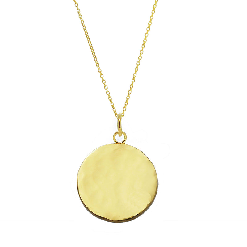 Organic Disc Necklace  - Gold