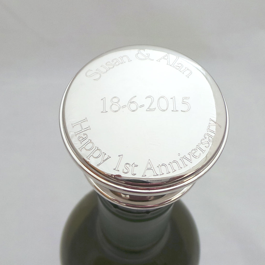 Engraved Wine Bottle Stopper - Personalised