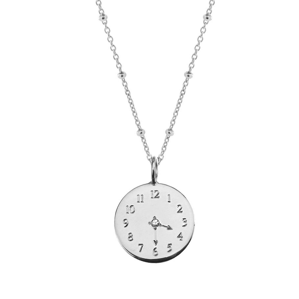 Bespoke Time Necklace - Silver