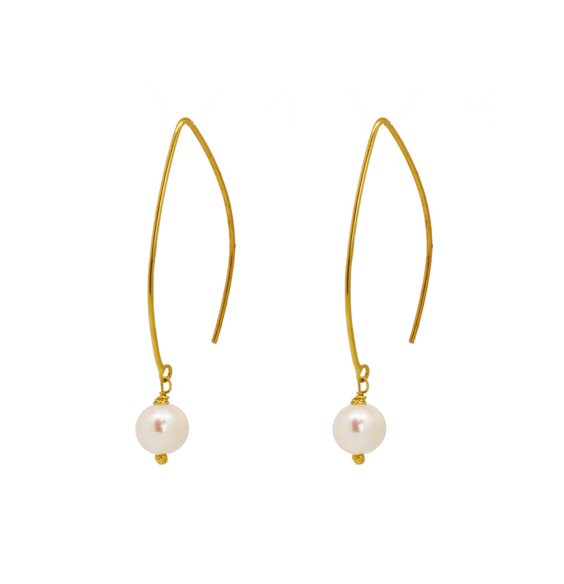 Half Moon Drop Earrings - Gold