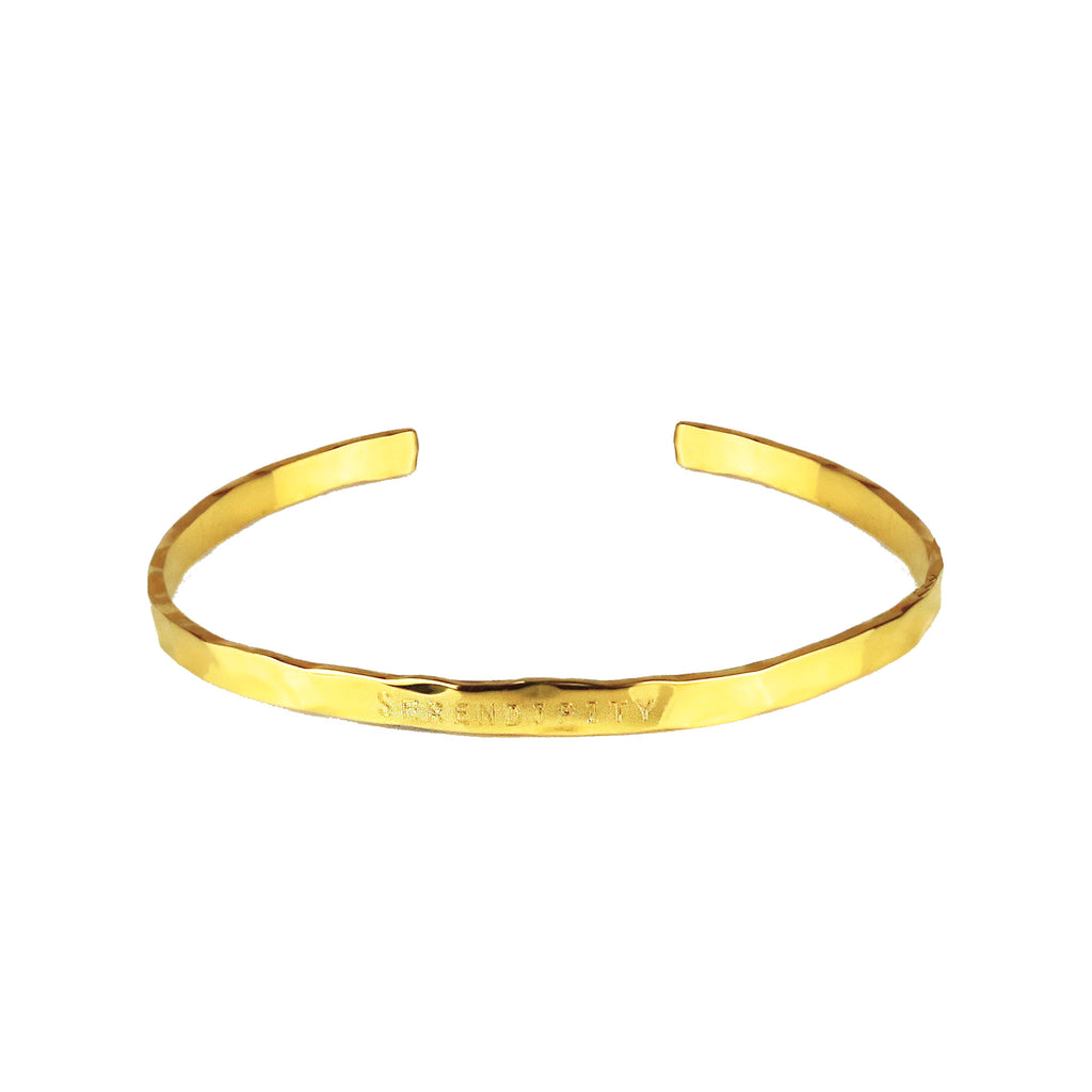 Torque Bangle with Lightly Hammered Finish