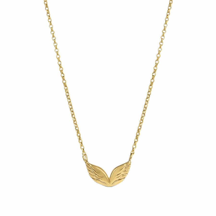 Angel Wings Necklace - Gold