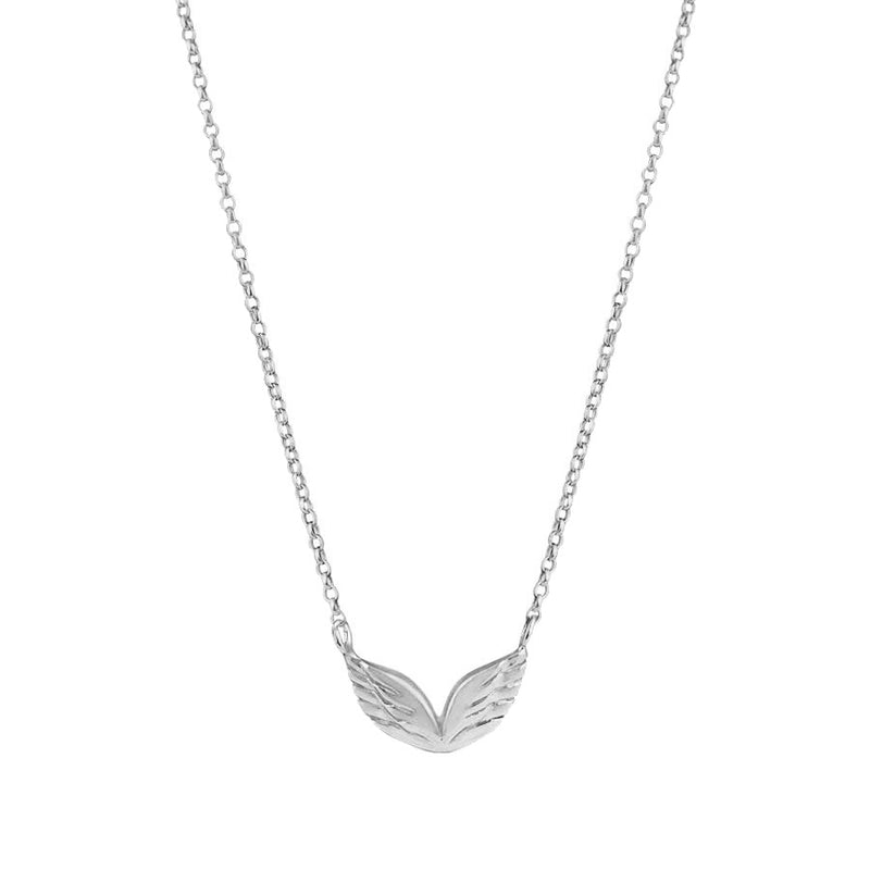 Four Sided Vertical Bar Necklace - Silver
