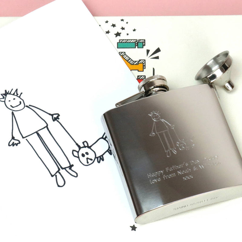 Personalised Engraved Stainless Steel Hip Flask - Premium Quality