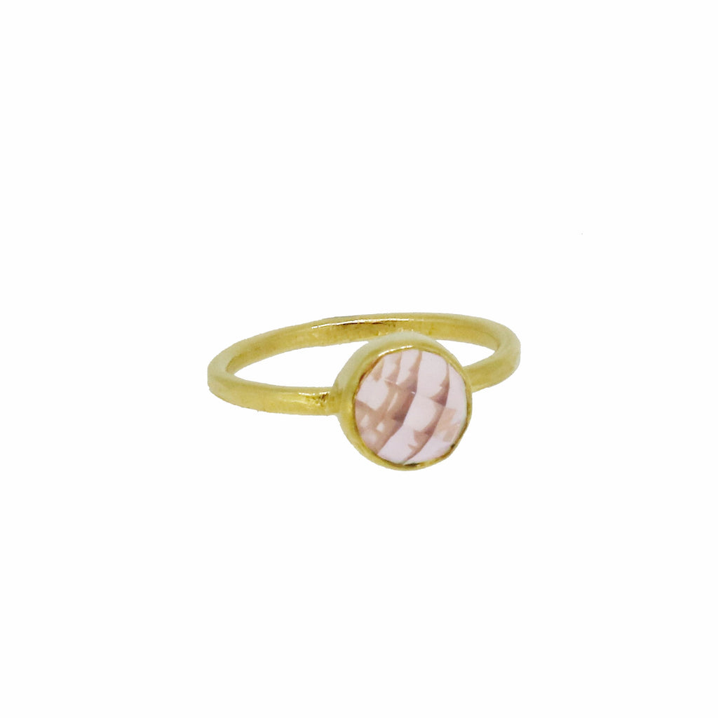 Rose Quartz Ring - Gold