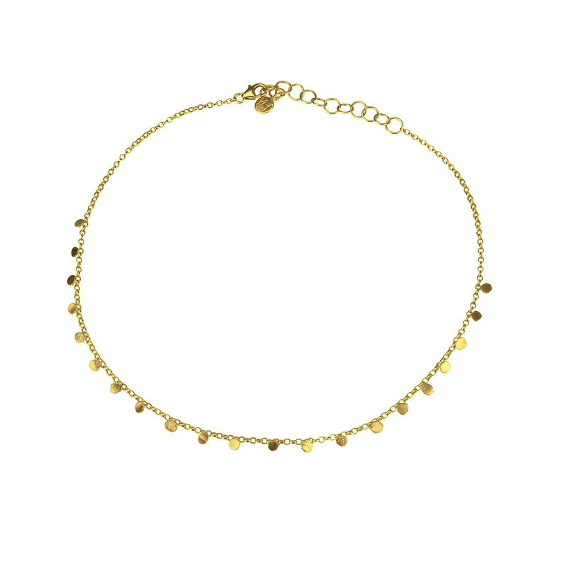 Tiny Dot Choker Necklace - Gold